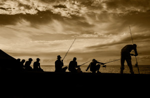 Fishermen in Havana, Cuba