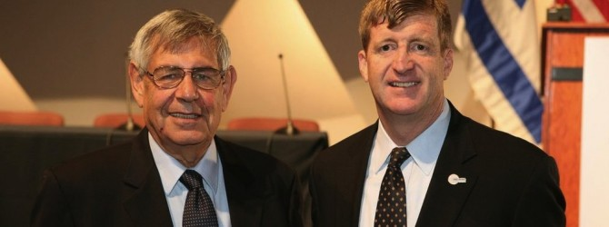 Pictured are BSF Executive Director Yair Rotstein and Conference speaker the Honorable Patrick Kennedy