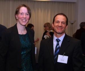 Pictured are Vanderbilt Professor Janet Macdonald and Deputy Israeli Ambassador Reuven Azar