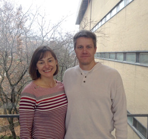 Nicole Koropatkin and Eric Martens, partners in science and in life